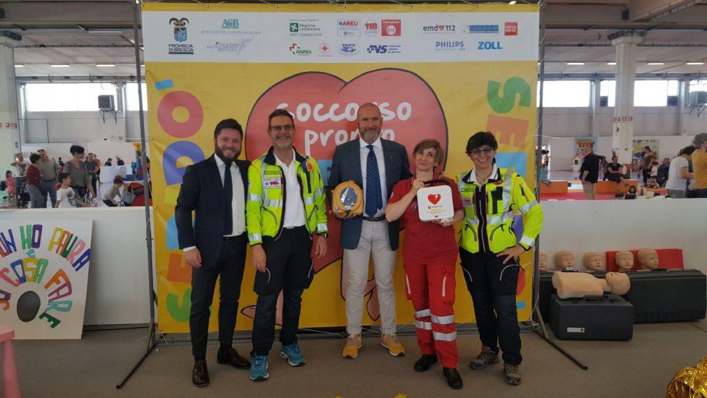 Donazione Defibrillatori samaritan e Lifelink CR2 a Seridò 2018