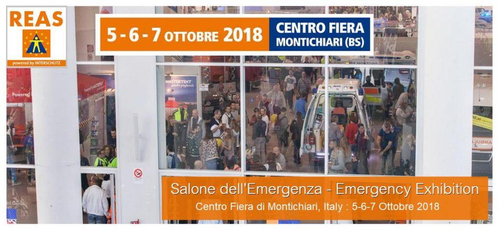 Salone Emergenza REAS 2018 Montichiari (Brescia)