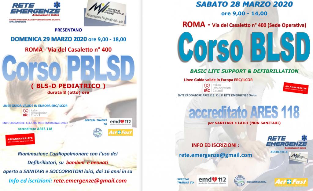 Corsi BLSD PBLSD IRC Roma